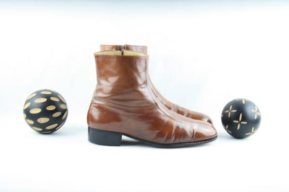 Size 8.5 Men's Boots-Vintage Men's Boots-1990's Zi