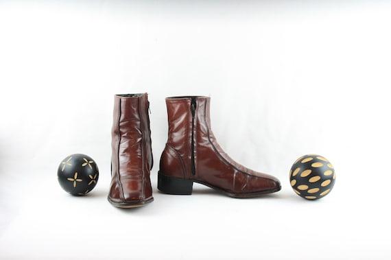 Size 7.5 Vintage Boots-Vintage Men Boots-Flat Ankl