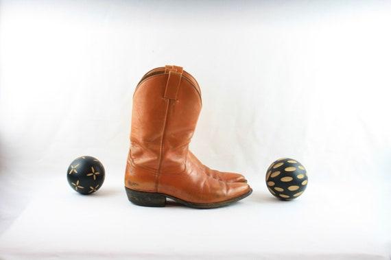 Size 8 Vintage Men Cowboy Boots-Handmade Laramie … - image 2