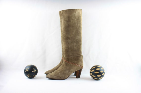 Size 9 Vintage Boots-Vintage Tall Boots-Italian Ma