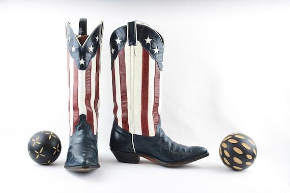 Vintage Boots-American Flag Boots ~ Women's Cowboy