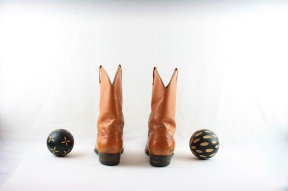 Size 8 Vintage Men Cowboy Boots-Handmade Laramie … - image 5