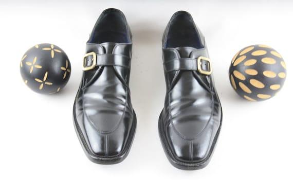 Size 10.5 D Mens Ferragamo Slip On-Vintage Black L