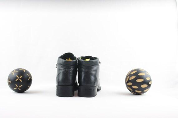 Vintage Ankle Boots. Size 6 Short Black Genuine L… - image 5