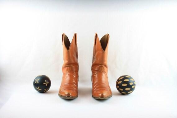 Size 8 Vintage Men Cowboy Boots-Handmade Laramie … - image 3