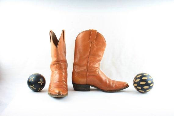 Size 8 Vintage Men Cowboy Boots-Handmade Laramie … - image 4