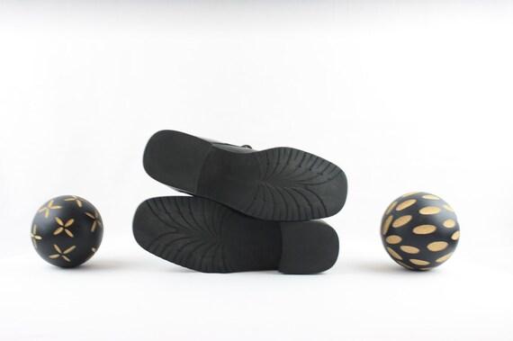 Vintage Ankle Boots. Size 6 Short Black Genuine L… - image 6