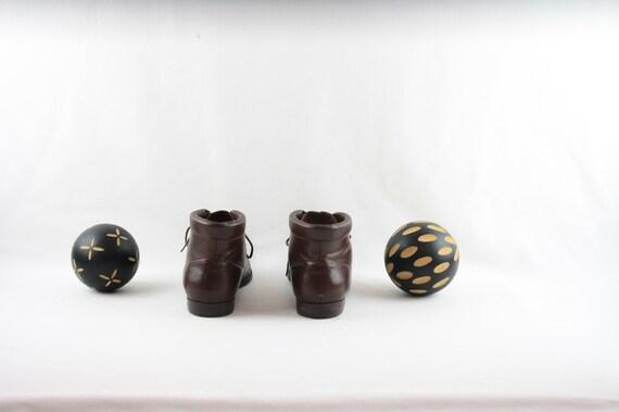 Vintage Women Ankle Boots-Sz 7.5 Lace-Up Boots-19… - image 6