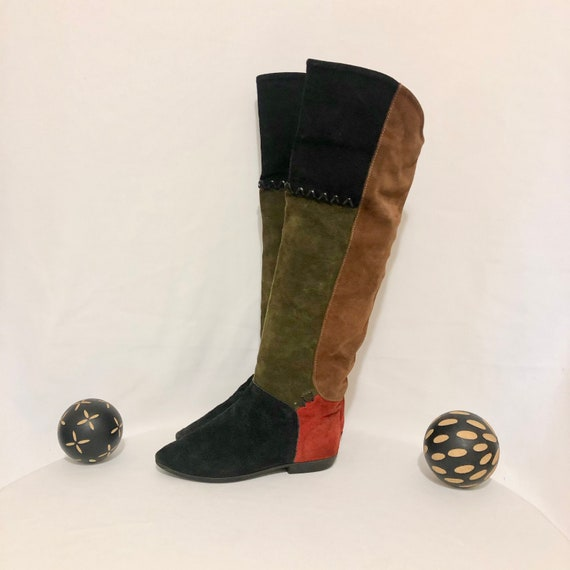 Vintage Boots-Size 8 Boots-Slouch Boots-Vintage Wo