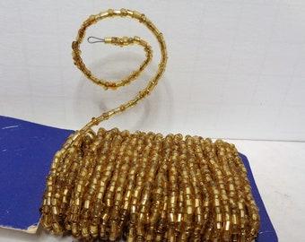 Gold Glass Seed Bugle Bead Handmade Jewelry Choker Necklace Statement Earrings Wired Beads Bulk Creative Bead Art Decor Gold Seed Bead