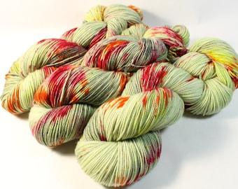 Hand Dyed Sock Yarn - SW Sock 80/20 - Superwash Merino Nylon - 400 yards - Rah Rah