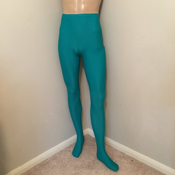 Men's Footed Tights in Jade ~ Aaron ~ Ready to Ship O5u62clJ