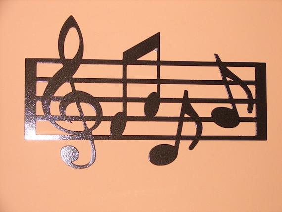 Nota Musical Piano Casa Pared Calcomanía Citar Decoración Arte Forma de sonido