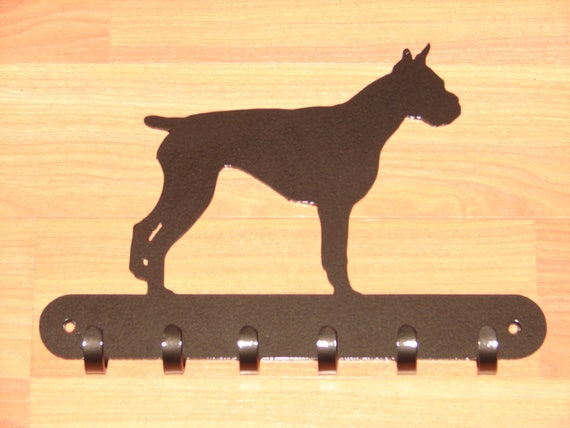 Boxer Wall Key Hook Hanger Metal Dog Pet Hook Wall Mount Hat Leash Home Decor
