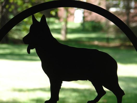 German Shepherd Dog MAILBOX TOPPER METAL Address Sign Pet Personalized Pet Lover