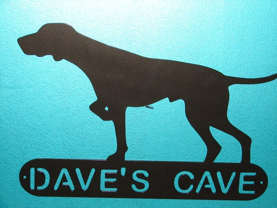 HUNTING DOG METAL WALL PLAQUE DECOR HOUSE PERSONALIZED