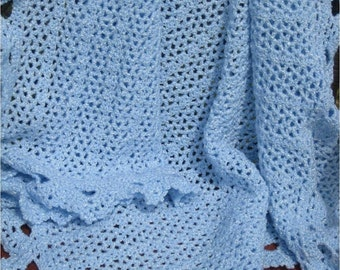 Crochet Baby Afghan in Your Choice of Color