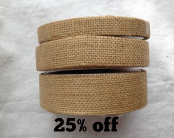 SALE 25% OFF - Hessian Ribbon - 15mm / 25mm / 35mm wide - 3m - Natural - Eco