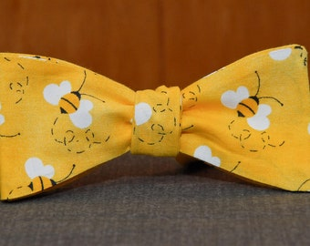 Gettin Busy on Yellow  Bow Tie