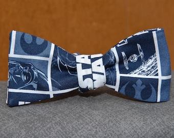 Star Wars on Blue  Bow tie