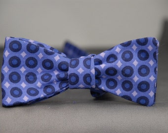 Purple Dots & Diamonds  Bow Tie