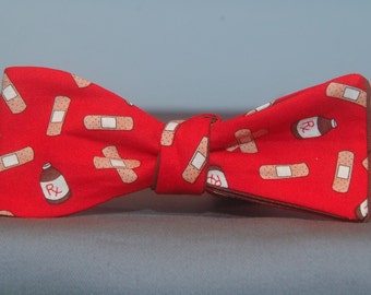 Medical on Red  Bow tie