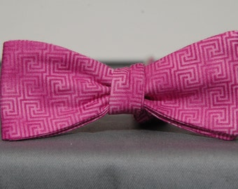 Inception Hot Pink Print Bow Tie