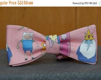 Adventure Time on Pink  Bow tie