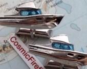 Vintage Nautical Boat Cufflinks Made in USA SWANK Brand Mid Century 1950 39 s Men 39 s Accessories
