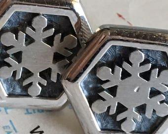Men's Vintage Cufflinks Snowflake Cufflinks Steampunk Cufflinks Men's Cufflinks Antique Cufflinks HICKOK Brand Cufflinks