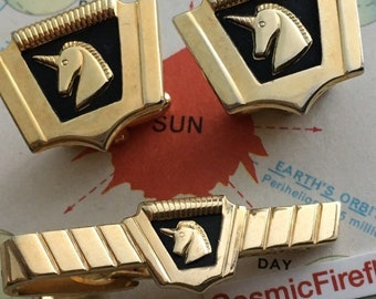 Men's Vintage Cufflinks Antique Cufflinks Steampunk Cufflinks Unicorn Cufflinks
