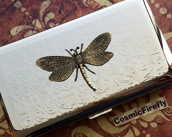 Big Dragonfly Case Cigarette Case New Vintage Style Design Holds 120's Longs Gothic Victorian Steampunk Case Smoking Accessories Large Case