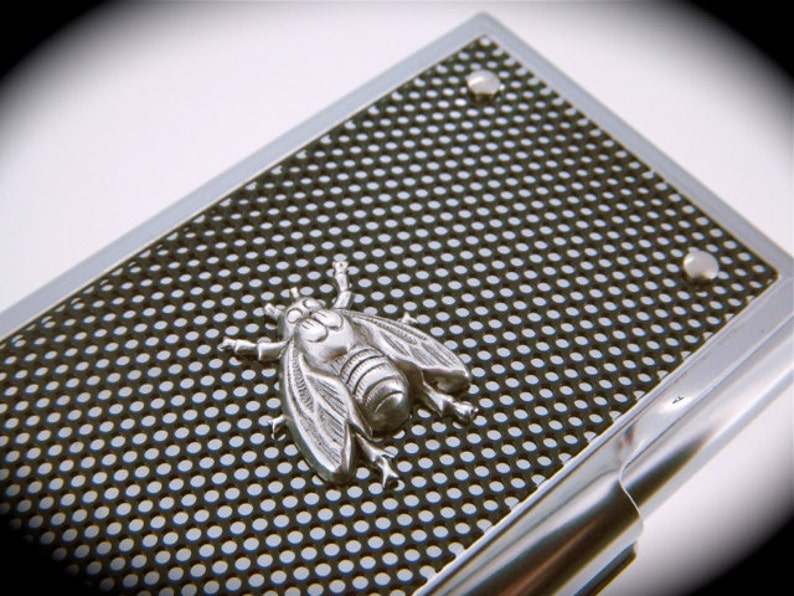 Silver Fly Card Case Metal Business Card Holder The Fly Case image 0