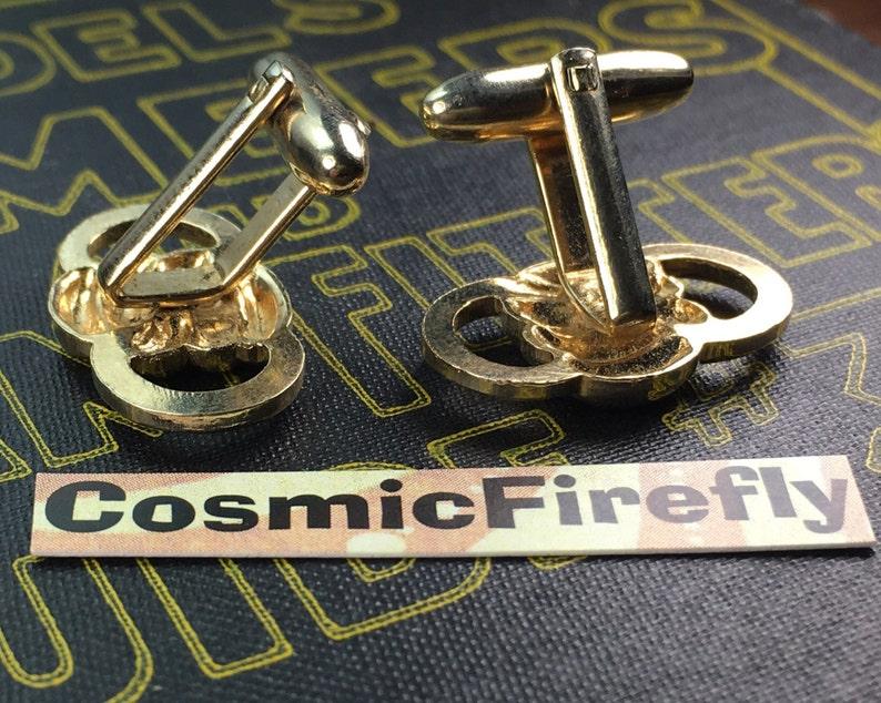 Men/'s Vintage Cufflinks Antique Gold Plated Brass Steampunk Cufflinks Coiled Rope Knotts Cufflinks