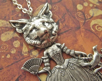 Fox Girl Necklace Gothic Victorian Sideshow Carnival Freak Dark Circus Fox Necklace Original Steampunk Necklace From Cosmic Firefly