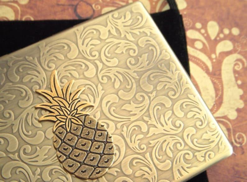 Pineapple Cigarette Case Oversized Business Card Holder Gothic image 0