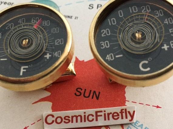 Vintage Thermometer Cufflinks Vintage Cufflinks Na