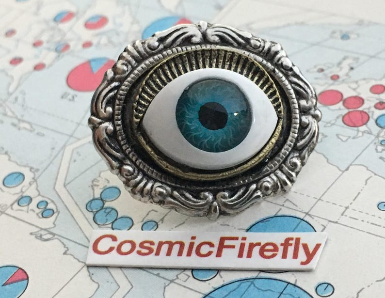 Small Eyeball Tie Tack Steampunk Tie Tack Men's Gifts For image 0