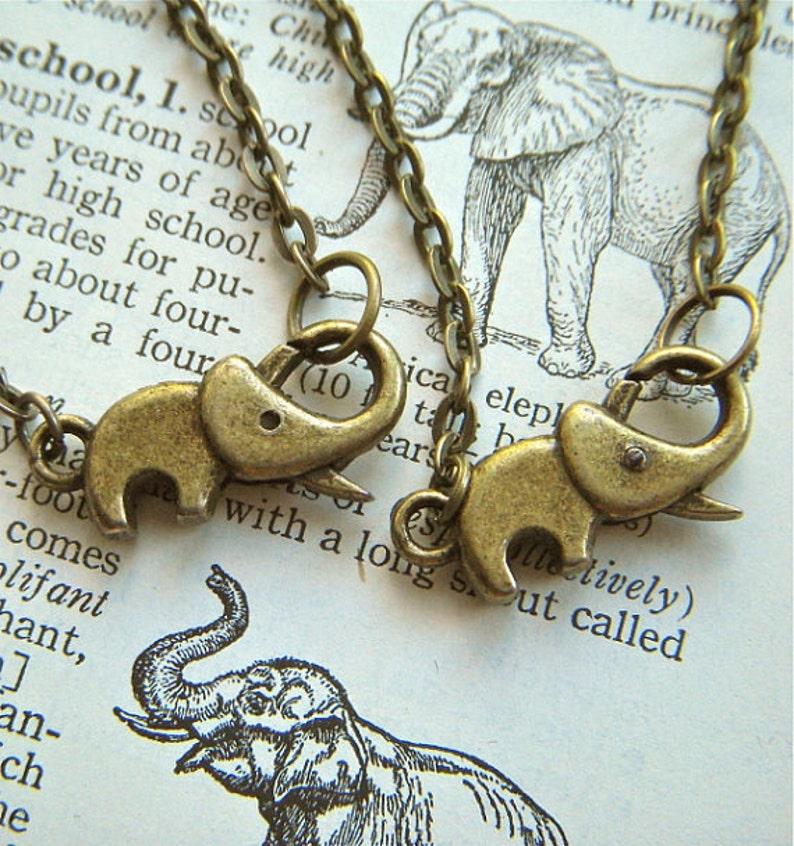 Baby Elephant Bracelets Set of 2 Friendship Bracelets Tiny image 0