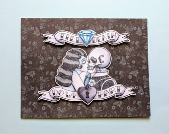 Till death do we part gothic handmade card