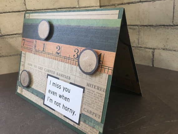 I Miss You Card Funny I Miss You Even When Im Not Etsy