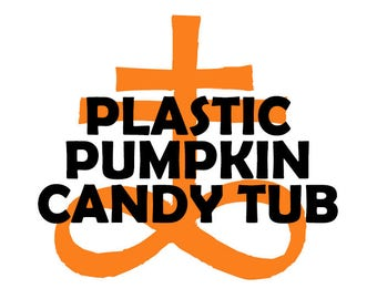 Plastic Pumpkin Candy Tub