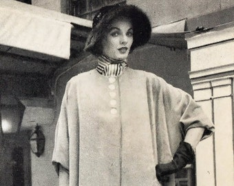 Two Vintage PDF Sewing Patterns Reversible Jacket and Coat 1950's Reproduction Instant Download