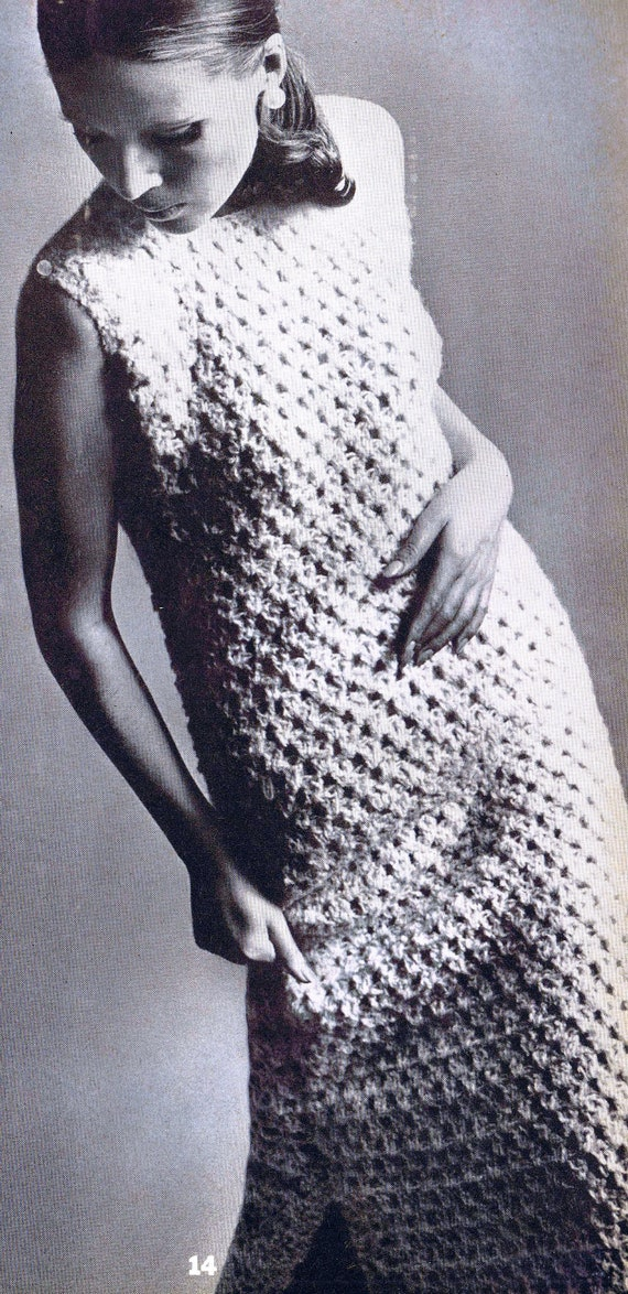 Two Piece Crochet Evening Dress Pdf Pattern 32 38 Inches Etsy