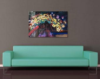 Original Acrylic Painting: Golden Dreams