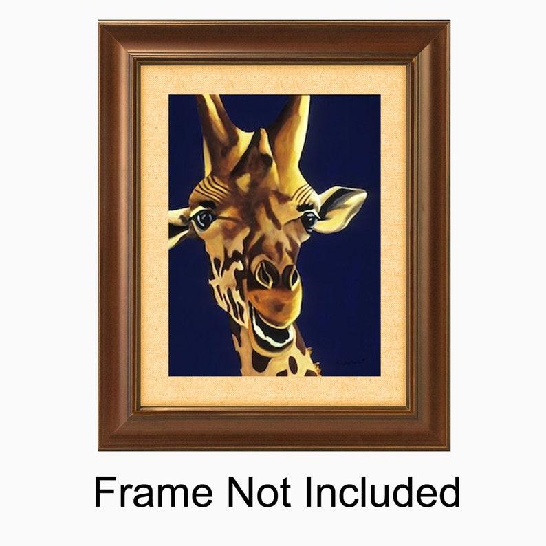 Giraffe Painting Children's Room Art Picture Print. image 0