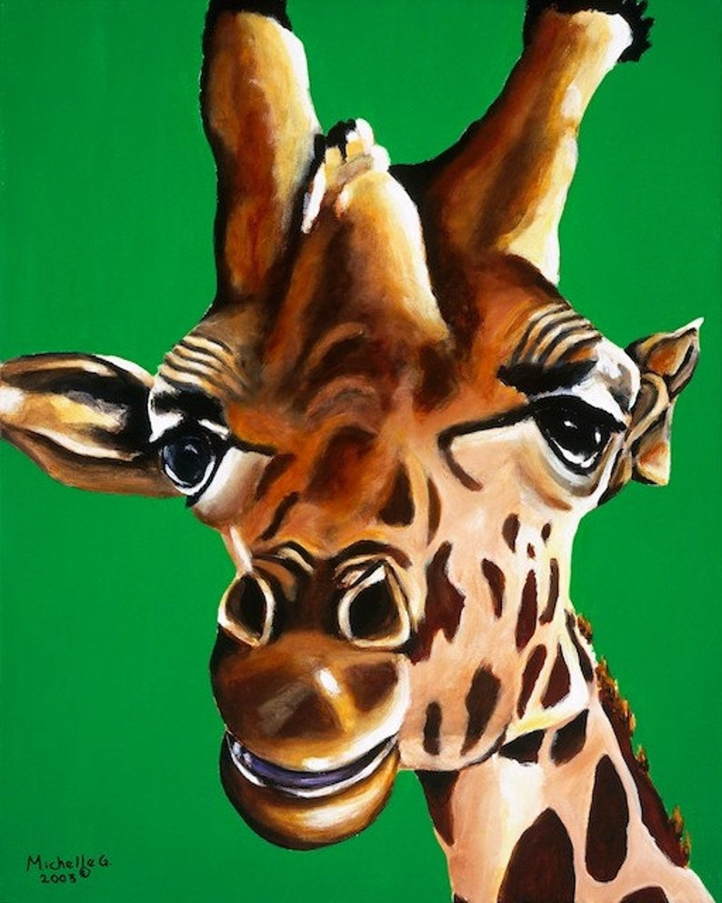 Giraffe Wall Art Giraffe Print Kids Room Art Gender image 0
