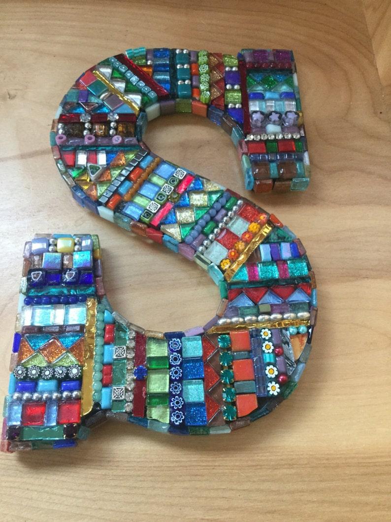 Mosaic bling letter S.