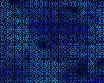 Filigree Blue - Floragraphix V - by Jason Yenter for In The Beginning Fabrics   - 1/2 Yard