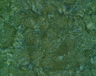 Forest Trails - Green - Artisan Batiks Robert Kaufman - Sold by the half yard - Shipped as continuous yardage